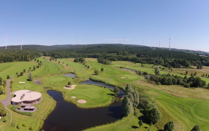 Golfpark Bostalsee Luftaufnahme